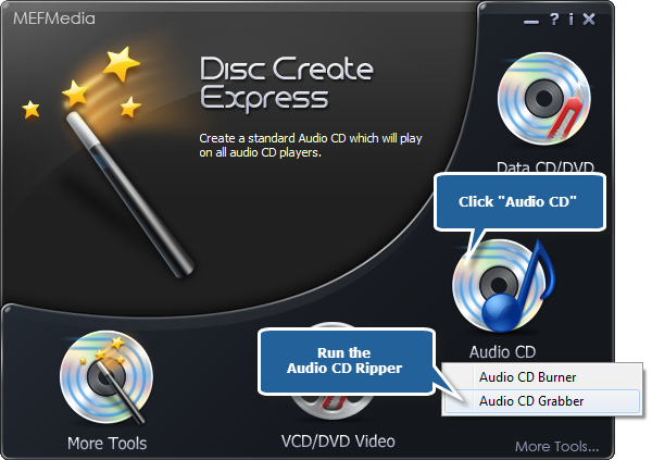 Choose Audio CD Grabber