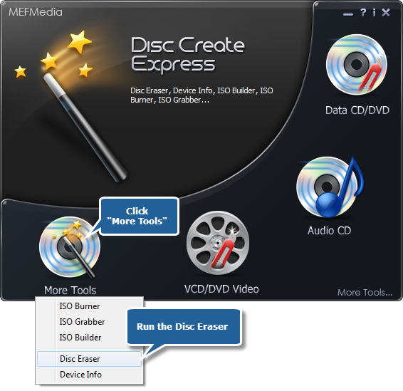 Choose Disc Eraser