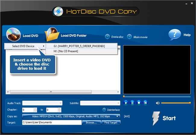 Load DVD Videos