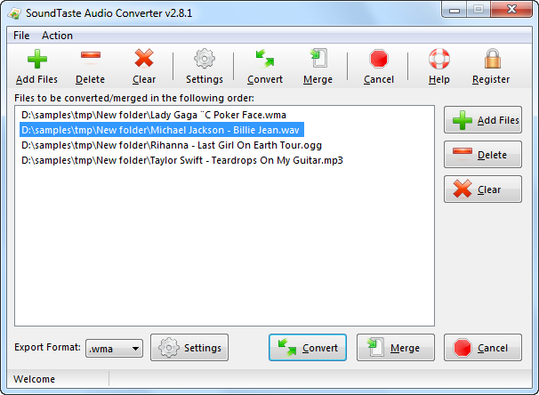 SoundTaste Audio Converter Screenshot